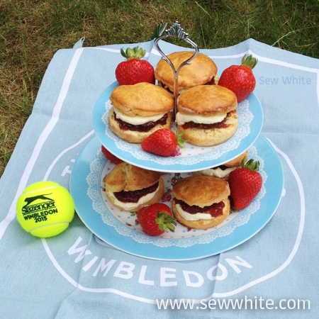 Sew White Wimbledon afternoon tea orange scones 1
