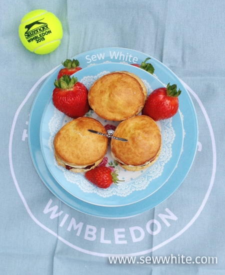 Sew White Wimbledon afternoon tea orange scones 5