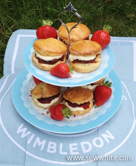 Sew White Wimbledon afternoon tea orange scones 8