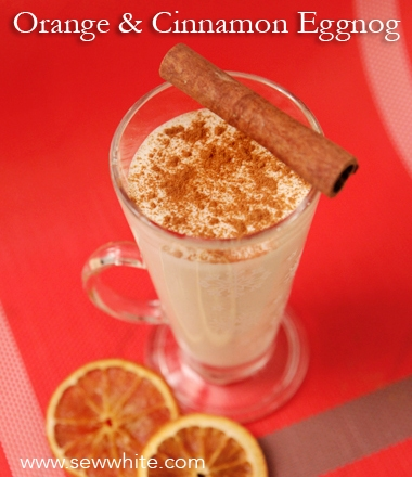 Sew White orange and cinnamon eggnog