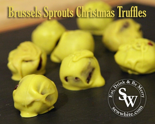 Sew White Brussels Sprouts Christmas Truffles 3
