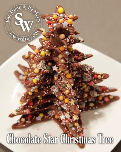 Chocolate Star Christmas Tree Easy Edible Decorations For Children