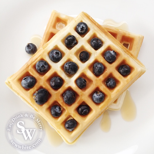 Sew White blueberry and orange waffles