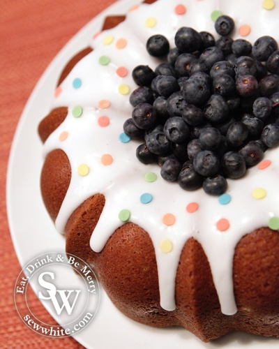 Sew White Lemon and Blueberry Bundt Cake 3