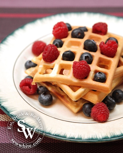 Sew White easy waffles uk recipe