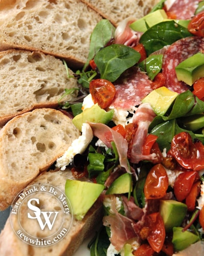 Italian Inspired Spring Salad perfect for a dinner party