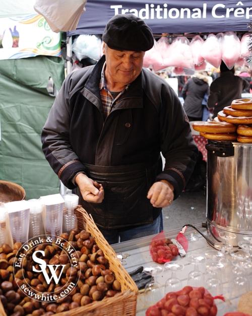 roasted chestnut seller