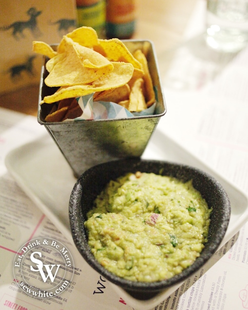 tortilla chips and fresh guacamole
