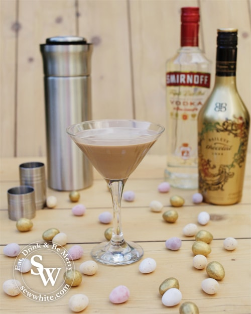 chocolate cocktail perfect for easter Chocolate Flat White Martini