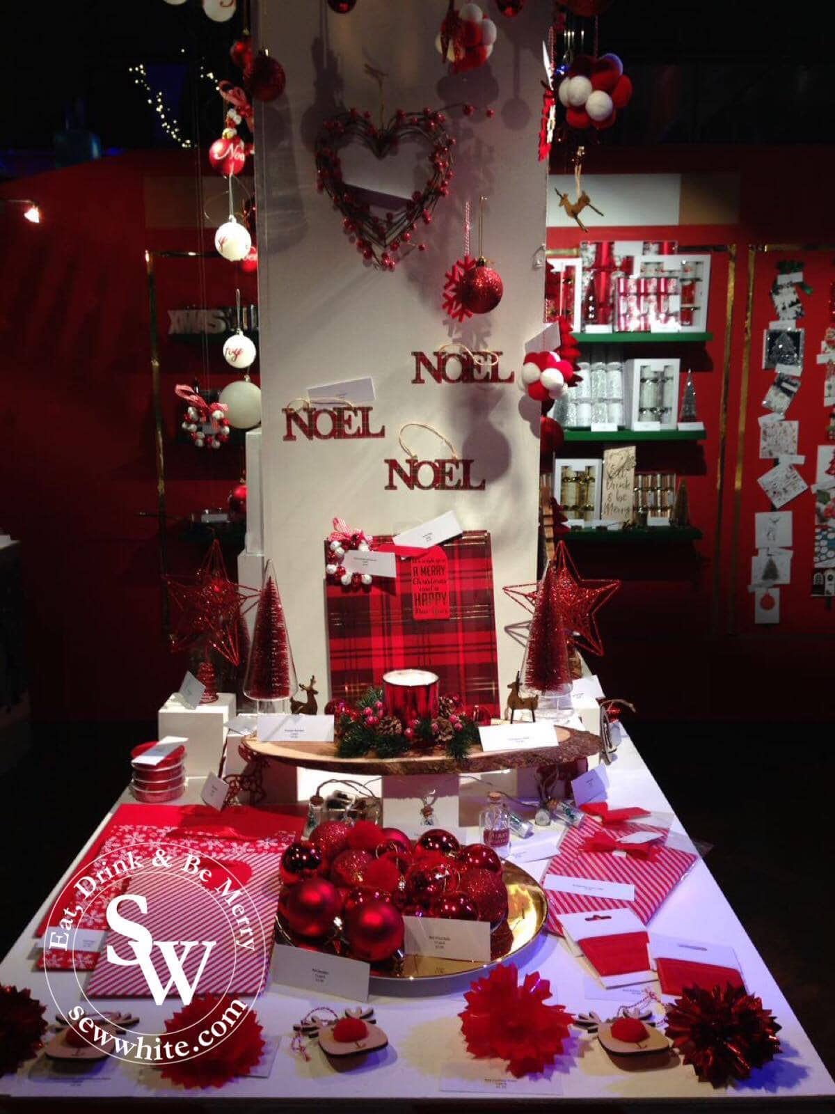 decorations and christmas gift wrap at the morrisons show case
