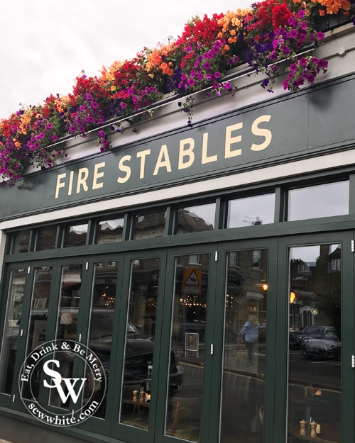 Fire Stables Wimbledon Village decorated with flowers