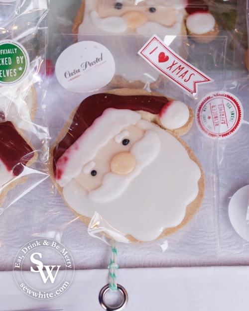 Wimbledon Winter Wonderland Santa biscuits