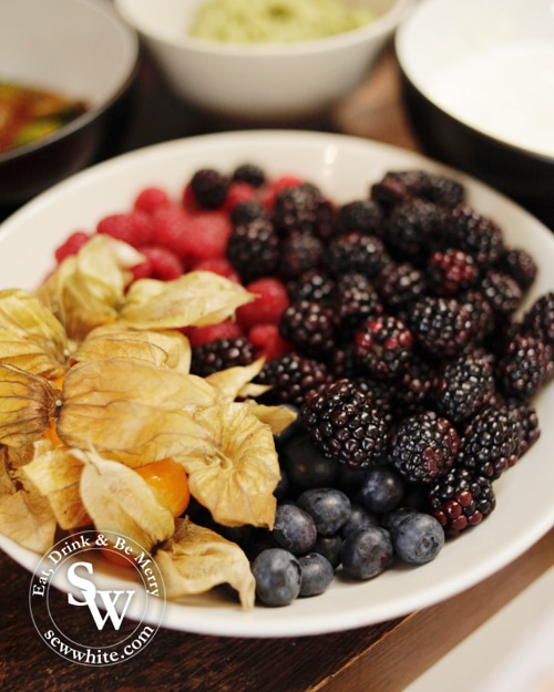 Fresh fruit and berries ready for a pancake filled breakfast
