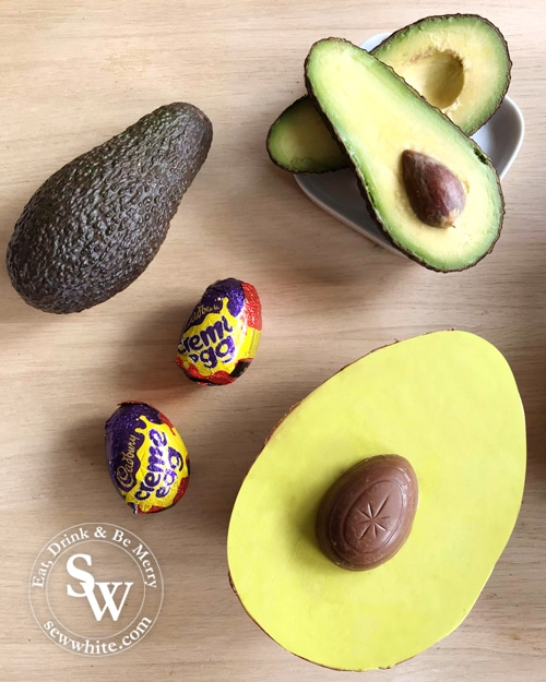 Avocado fans will love this Avocado Easter egg made with creme eggs