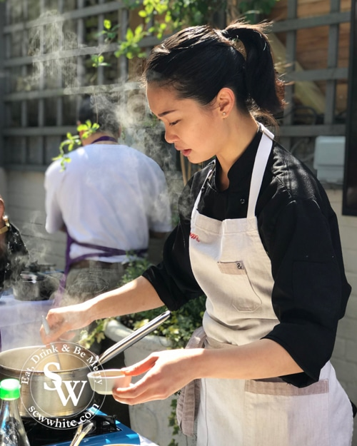 The Thai cookery day at Patara with Chef Tam in Wimbledon winner of Thai Top Chef.