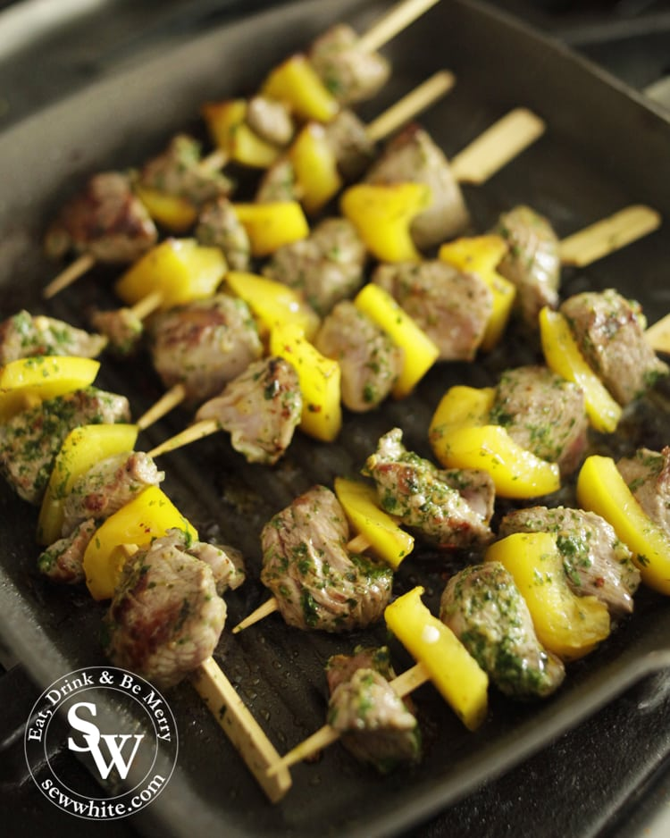 how to cook kebabs in a pan