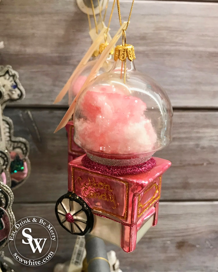 cotton candy pink retro christmas decoration