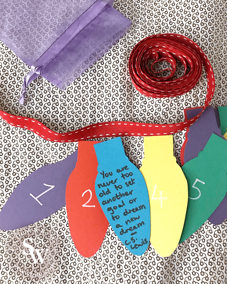 Affirmation advent calendar in the top 5 Craft Gifts for Christmas