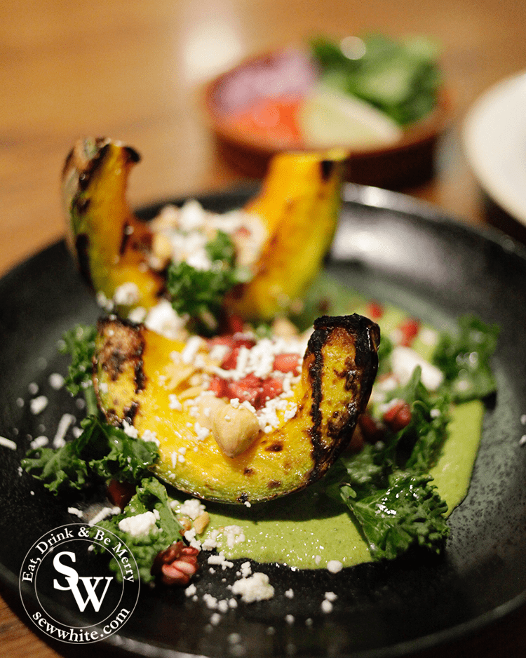 chargrilled Crown Prince squash is grown exclusively for Wahaca by Riverford Organic