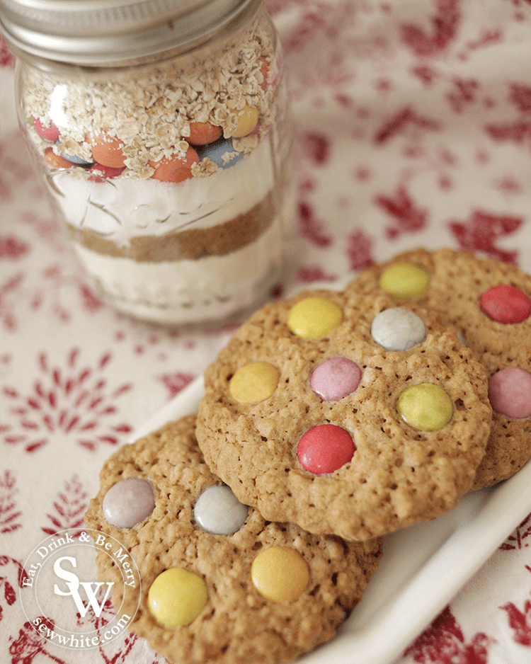 The smarties cookies made with the Cookie Jars how to blog post
