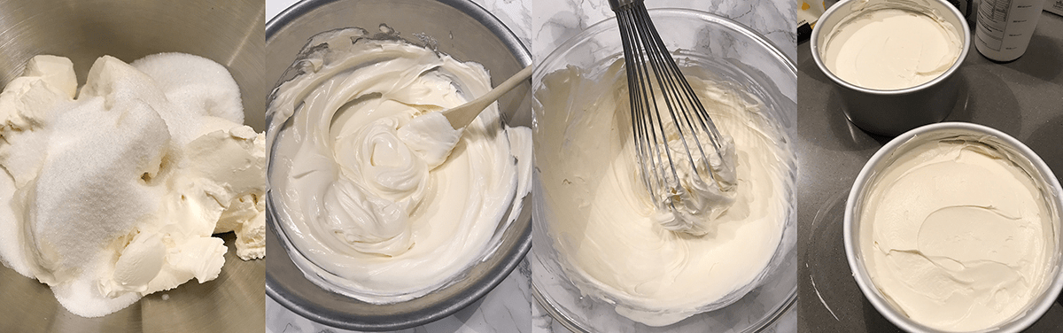 how to make the cream cheese part of a cheesecake
