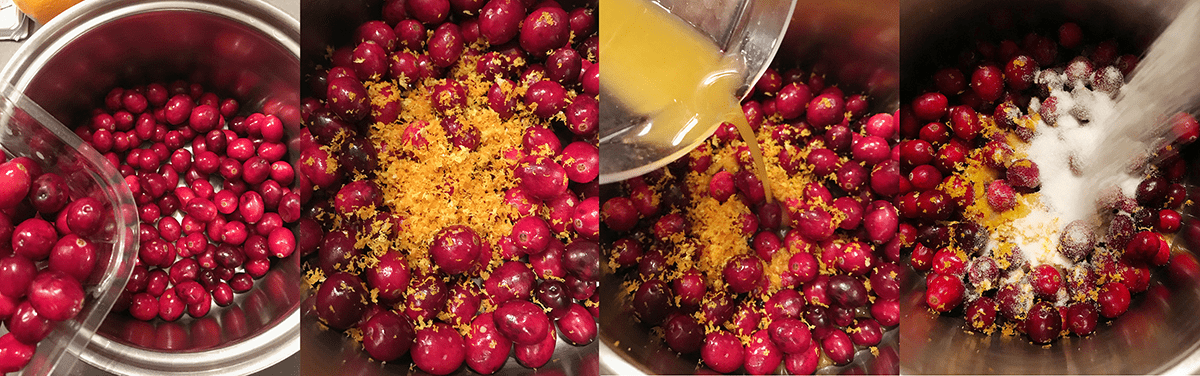 Cranberry and orange topping for a cheesecake