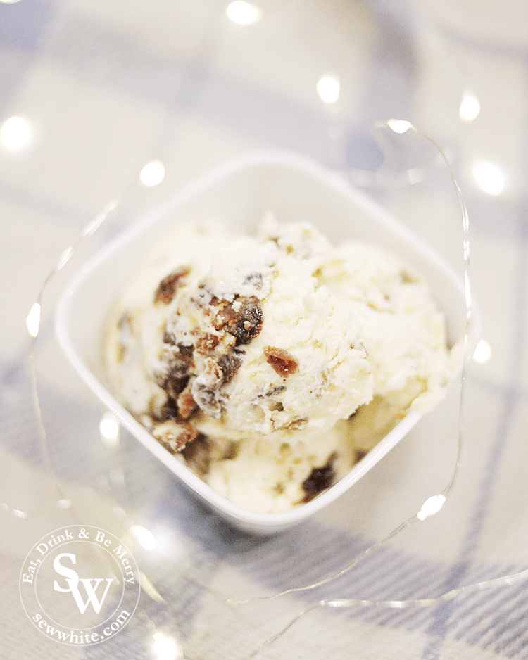 Enjoy a scoop of Christmas Pudding Ice Cream for your festive feast