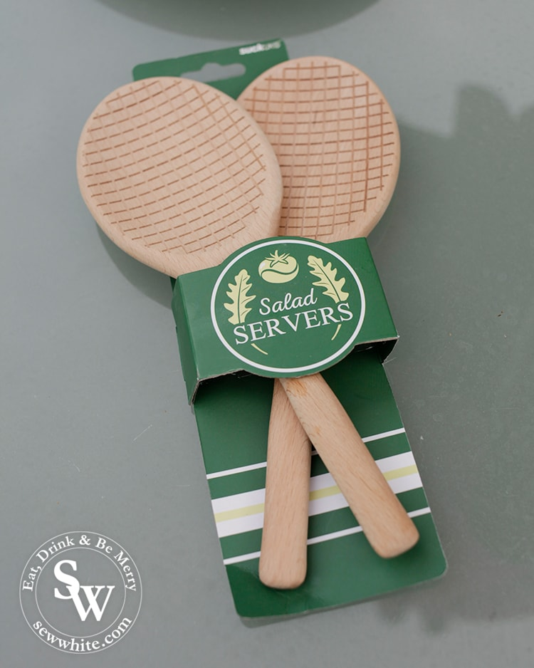 Top 5 treats for Wimbledon Finals salad servers shaped like tennis rackets.