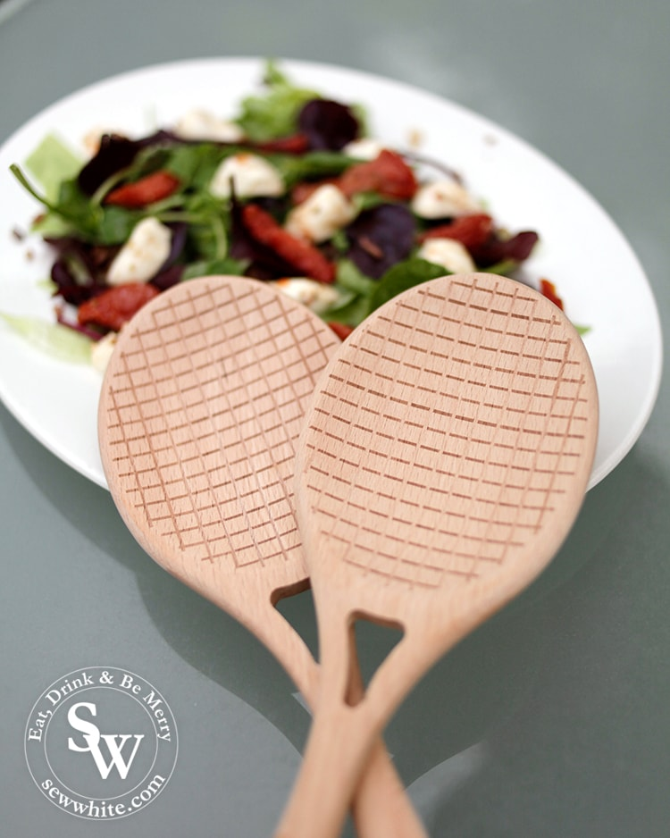 Top 5 treats for Wimbledon Finals have to include the tennis racket salad servers from Elys Wimbledon