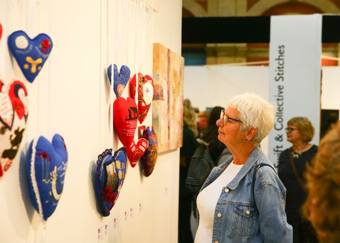 Looking at fabric art at the Knitting and Stitching Show Alexandra Palace October