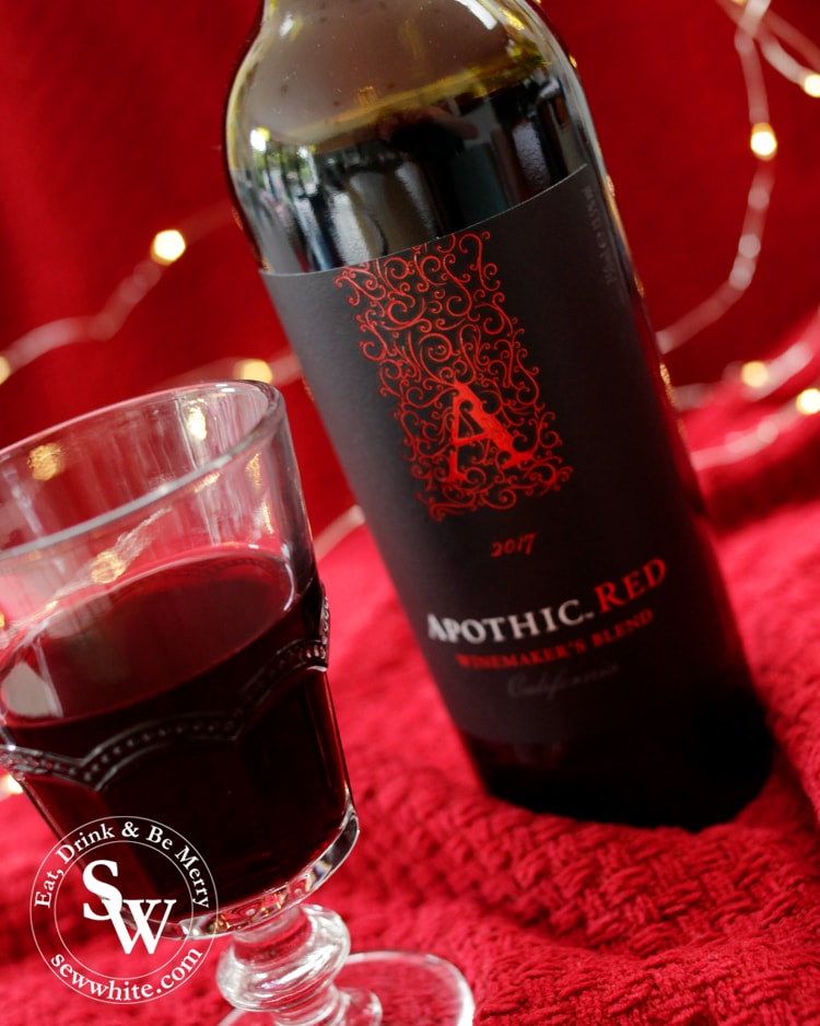 A tall bottle of Apothic red wine perfect for Christmas dinner