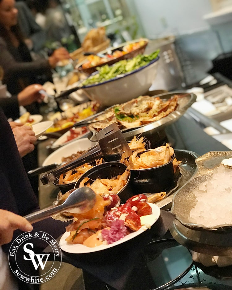 the incredible buffet at hotel du vin