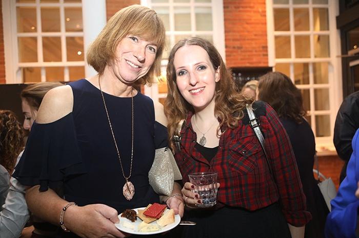 artist Jo Holdsworth with Sisley White at Hotel du Vin's 25th Birthday