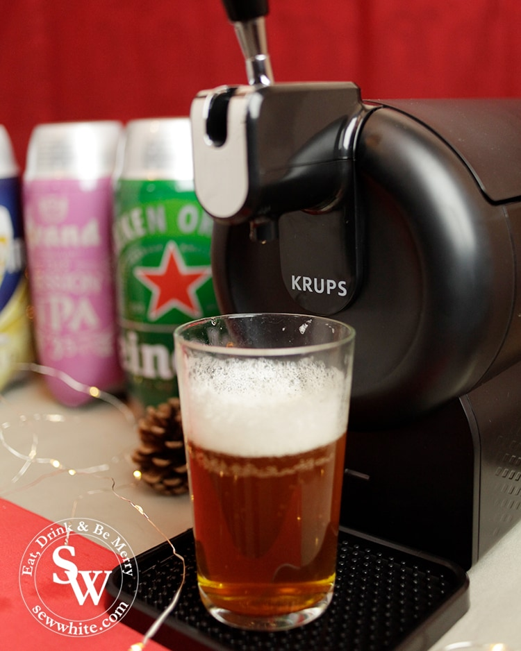 The beer sub in use at a home party from beer wulf krups machine in the Top 5 Drinks for Christmas 2019