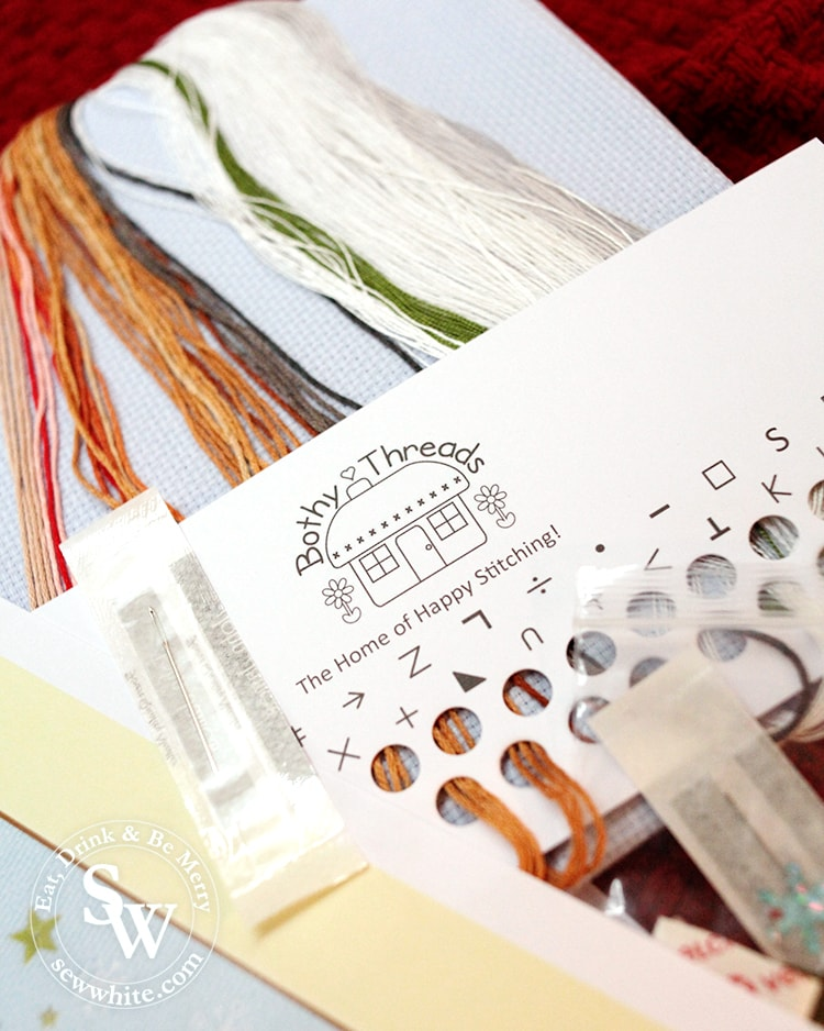 Bothy Threads cross stitch kit in the top 5 Craft Gifts for Christmas