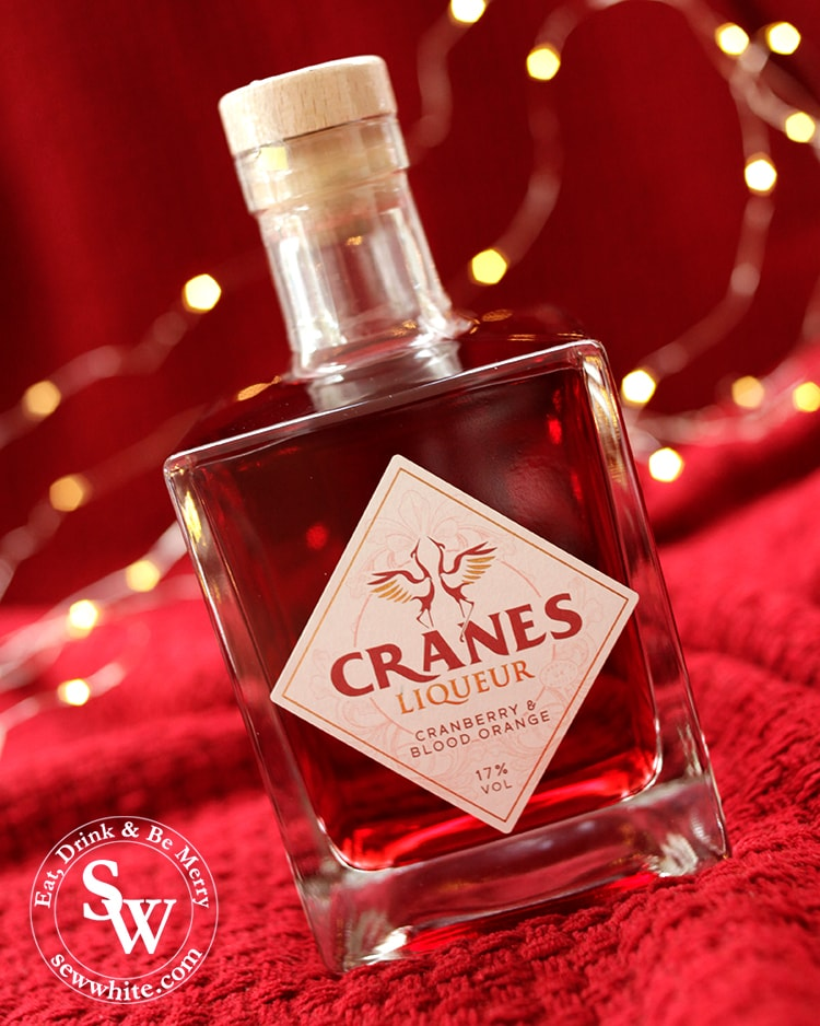 Cranes Liqueur cranberry and blood orange flavour perfect for christmas cocktails.
