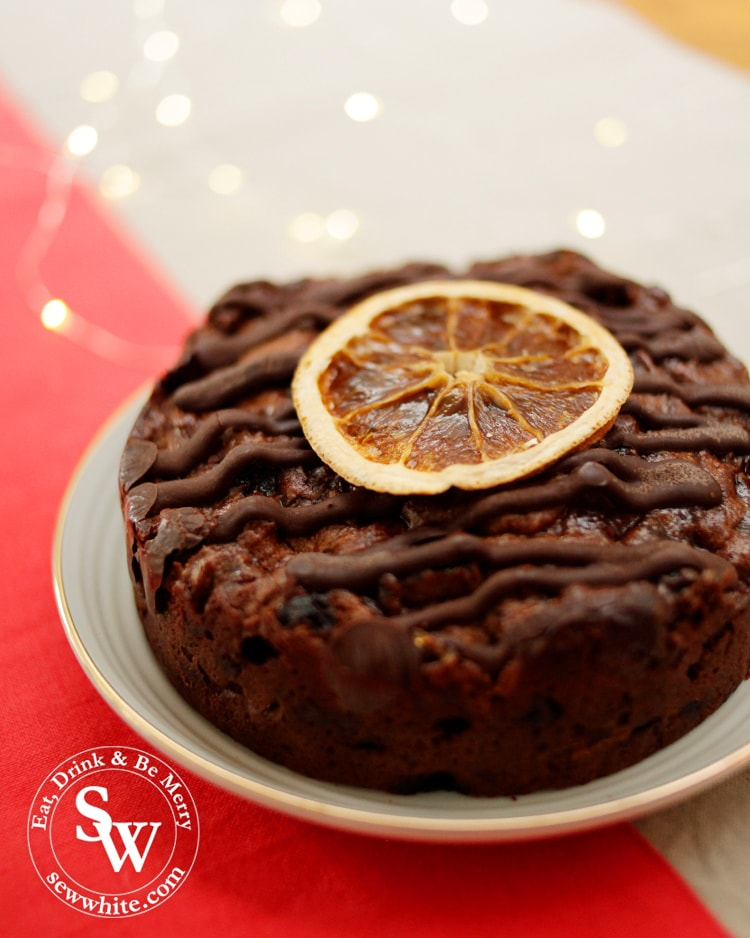 Top 5 Food Gifts for Christmas 2019 includes the gluten free chocolate orange and amaretto fruit cake from ginger bakers