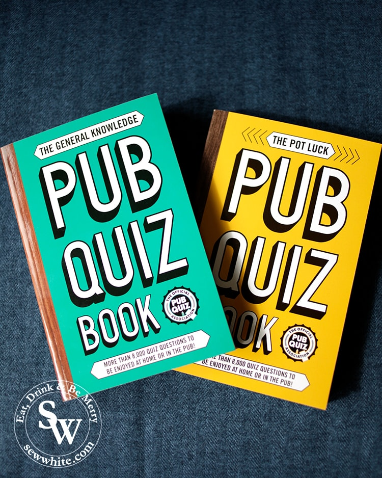 The general knowledge Pub Quiz book and the pot luck pub quiz book in the top 5 Books for Christmas 2019