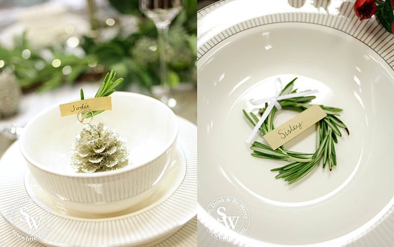 Name place setting on the Silver Christmas Table Inspiration