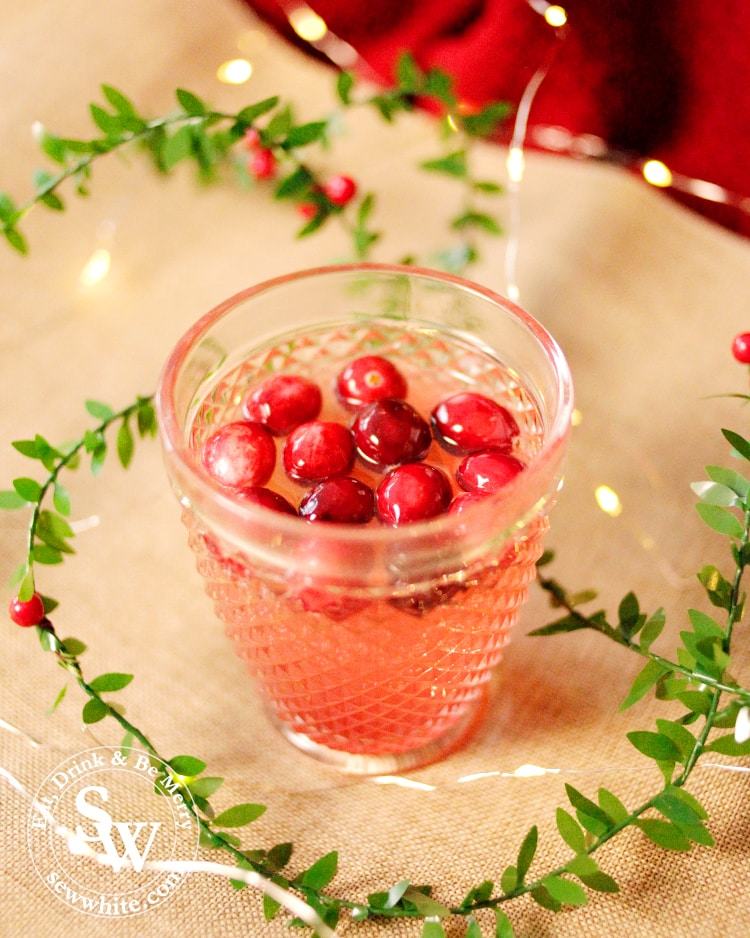 Sparkling Cranberry Ginger Cocktail perfect Christmas cocktail