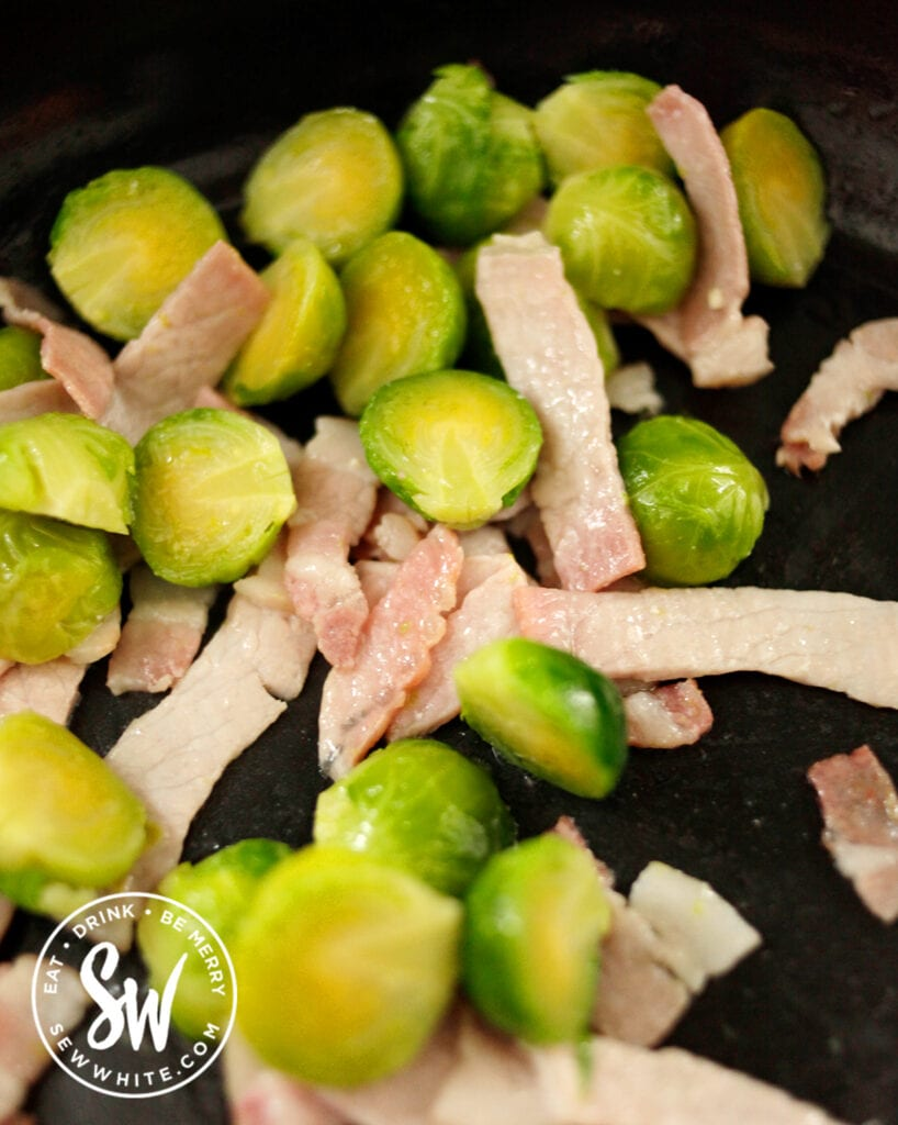 easy bacon sprouts