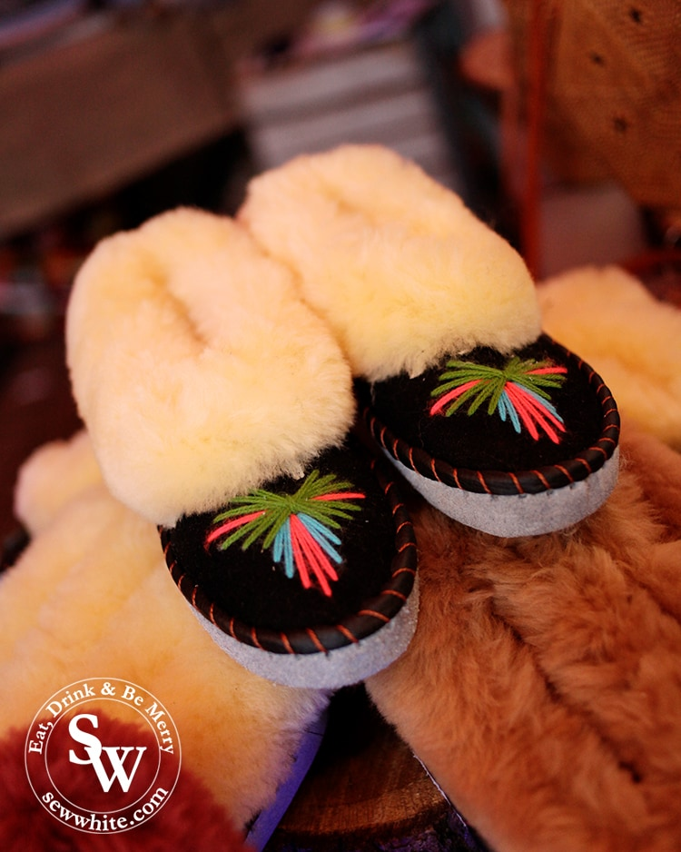 The cutest Eskimo slippers by Me Bali at Wimbledon Winter Wonderland
