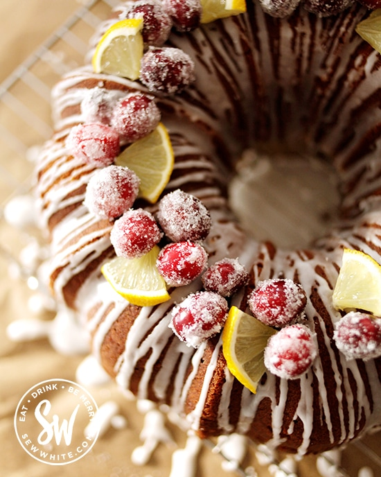 Winter bakes for fresh cranberries on the Cranberry and Lemon Bundt Cake