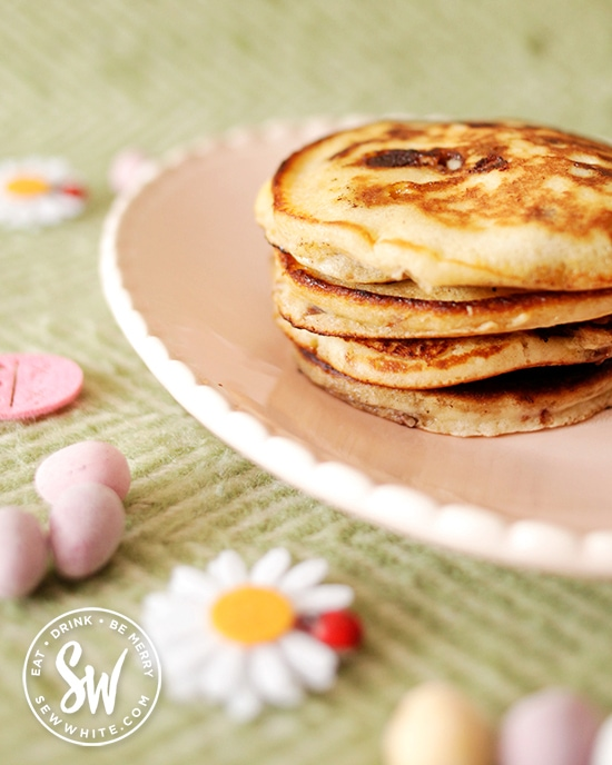 Easter brunch ideas with mini egg pancakes