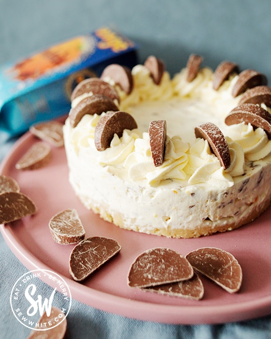 Terrys chocolate orange no bake cheesecake.