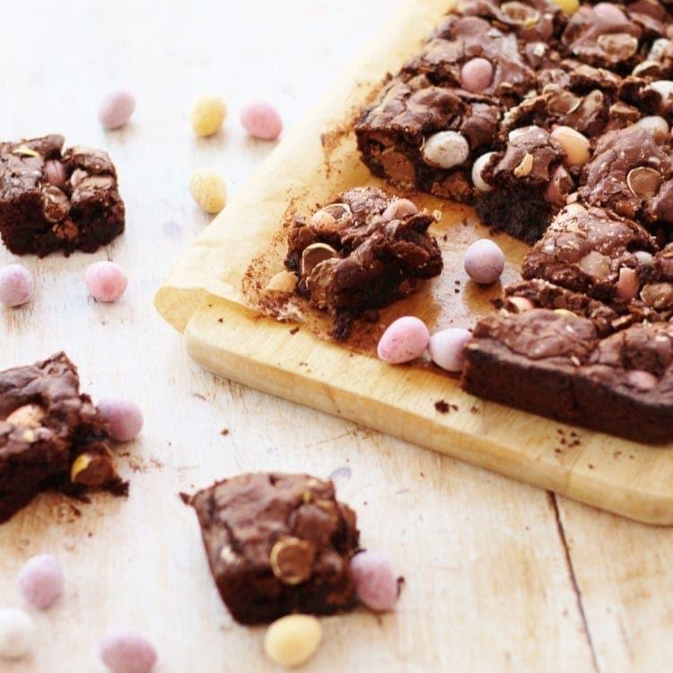 Mini Egg Brownies from Easy Peasy Foodie