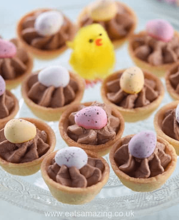 Mini Eggs Chocolate Cheesecake Bites from Eats Amazing