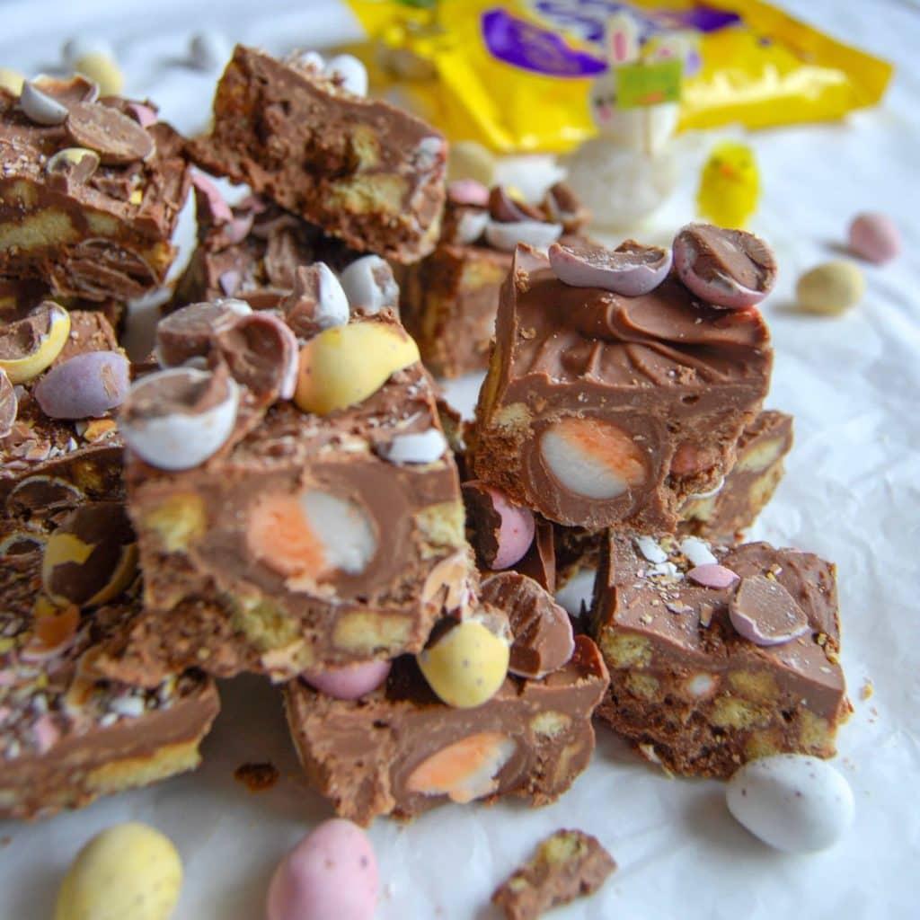 No Bake Chocolate Easter Fridge Cake from Something Sweet Something Savoury