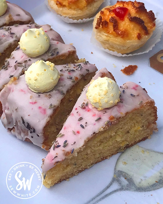Lavender cake by LusoBrazil at the Love Wimbledon market on the piaaza
