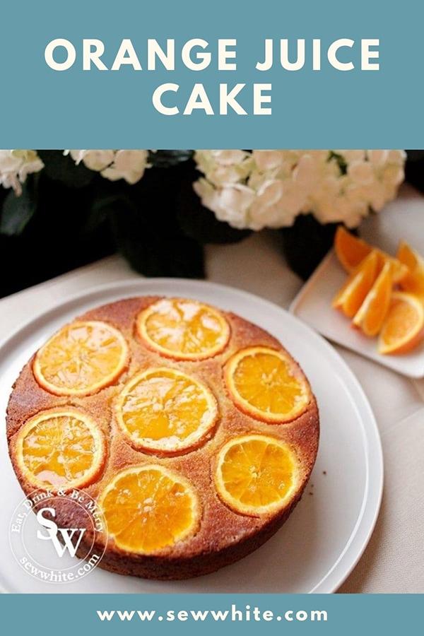 orange juice cake pin